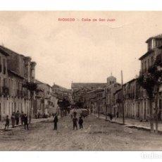 Postales: RIOSECO (VALLADOLID) CALLE DE SAN JUAN - PROPIEDAD BRUNO MERINO. Lote 111505739