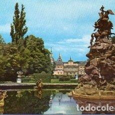 Postales: PALACIO DE LA GRANJA DE SAN ILDEFONSO - 100 FUENTE DE LA FAMA Y PALACIO. Lote 112104111