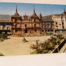 Postales: POSTAL PONFERRADA PLAZA DEL GENERALISIMO Y AYUNTAMIENTO, ED. ARRIBAS, SIN USO.. Lote 112759707