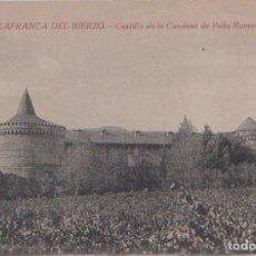 Postales: VILLAFRANCA DEL BIERZO (LEON) - CASTILLO DE LA CONDESA DE PEÑA RAMIRO. Lote 113037763