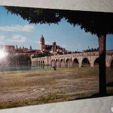 Postales: ANTIGUA POSTAL SALAMANCA PUENTE ROMANO CATEDRAL SALVADOR BARRUECO. Lote 115505882