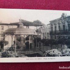 Postales: MIRANDA DE EBRO PLAZA DE ESPAÑA. ED ARRIBAS.CIRCULADA 1952.. Lote 115712147