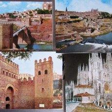 Postales: MUY ANTIGUAS 4 POSTALES DE TOLEDO Y BURGOS 50/60. Lote 116236411
