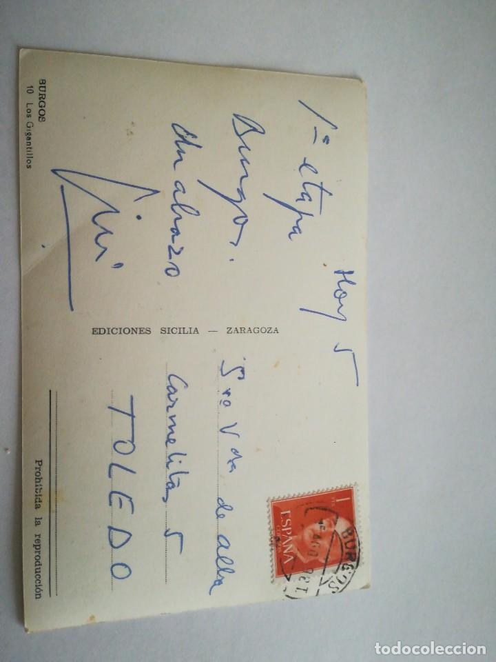 Postales: Muy Antigua postal: Los Gigantillos. Burgos. - Foto 2 - 116691771