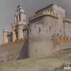 Postales: TUREGANO (SEGOVIA) - EL CASTILLO FACHADA SURESTE. Lote 117288319