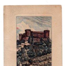 Postales: CASTILLO DE MOMBELTRÁN (AVILA).- FELICITACIÓN CON GRABADO. Lote 117626359