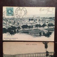 Postales: SEGOVIA. 2POSTALES HAUSER Y MENET.. Lote 118093256