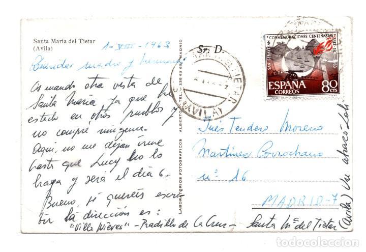 Postales: ÁVILA.- SANTA MARÍA DEL TIETAR. LABORATORIO FOTOGRÁFICO ALBERTO - Foto 2 - 118102387