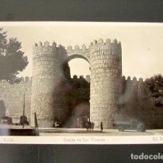 Postales: POSTAL ÁVILA. PUERTA DE SAN VICENTE. ED. ARRIBA. REVERSO EN BLANCO. . Lote 118452207