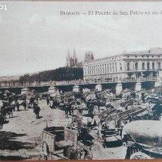 Postales: POSTAL BURGOS EL PUENTE SAN PABLO EN UN DIA DE FERIAL EDIC HAE CASTILLA LEON PERFECTA CONSERVACION. Lote 119911367