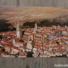 Postales: POSTAL SEGOVIA, LA CATEDRAL VISTA AEREA. Lote 120206735