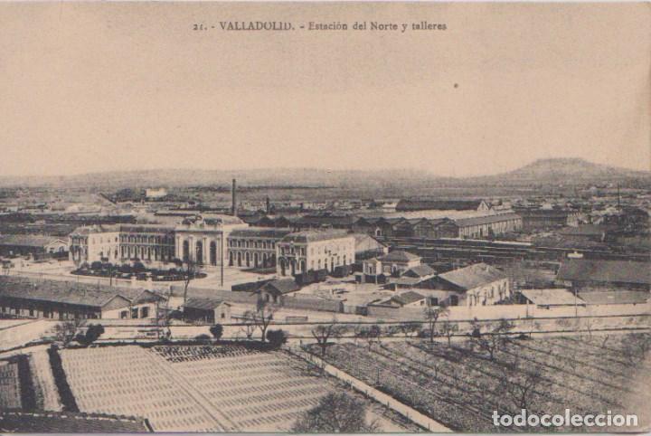 VALLADOLID - ESTACION DEL NORTE Y TALLERES (Postales - España - Castilla y León Antigua (hasta 1939))