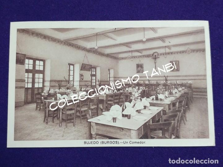 POSTAL DE BUJEDO (BURGOS). UN COMEDOR. AÑOS 40 (Postales - España - Castilla y León Antigua (hasta 1939))