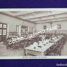 Postales: POSTAL DE BUJEDO (BURGOS). UN COMEDOR. AÑOS 40. Lote 121881987