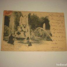 Postales: LA GRANJA - SEGOVIA- 794 FUENTE DE LAS RANAS HAUSER Y MANET , CIRCULADA, SIN DIVIDIR. Lote 122052199