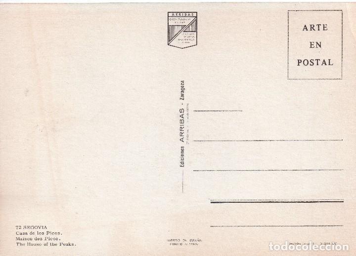 Postales: SEGOVIA -CASA DE LOS PICOS . ED ARRIBAS - Foto 2 - 122103811