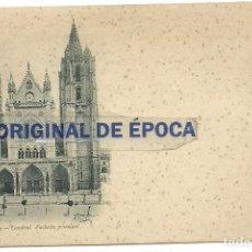 Postales: (PS-56135)POSTAL DE LEON-CATEDRAL.FACHADA PRINCIPAL.THOMAS. Lote 122122415