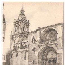 Postales: BURGO DE OSMA (SORIA) PORTADA Y TORRE DE LA CATEDRAL.. Lote 122131439