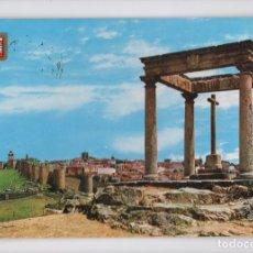 Postales: AVILA · CUATRO POSTES Y VISTA GENERAL -LUIS DOMINGUEZ, 1977-. Lote 122165223