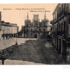 Postales: ASTORGA (LEON).- PLAZA MAYOR Y AYUNTAMIENTO. Lote 122190315