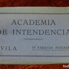 Postales: AVILA, ACADEMIA DE INTENDENCIA, CUADERNILLO CON 14 POSTALES, FOTOS GALMES, EXCELENTE ESTADO. Lote 122574731