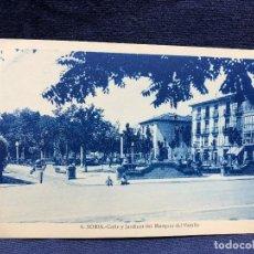 Postales: POSTAL 6 SORIA CALLE Y JARDINES DEL MARQUES DE VADILLO NO ESCRITA NI CIRCULADA. Lote 123098047
