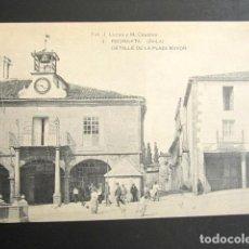 Postales: POSTAL ÁVILA. PIEDRAHITA. DETALLE DE LA PLAZA MAYOR. HAUSER Y MENET. . Lote 123345647