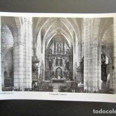 Postales: POSTAL BURGOS. COVARRUBIAS. COLEGIATA. INTERIOR. . Lote 124621491