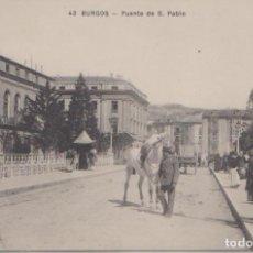 Postales: BURGOS - PUENTE DE SAN PABLO. Lote 125230719