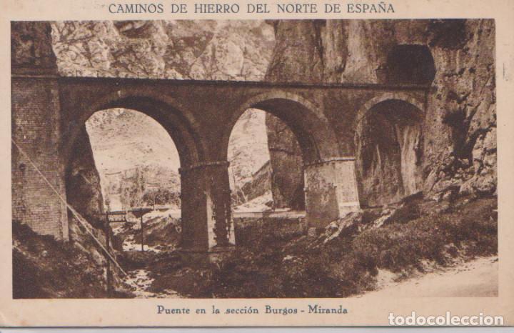 PUENTE DE LA SECCION BURGOS.MIRANDA (Postales - España - Castilla y León Antigua (hasta 1939))