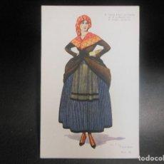 Postales: TARJETA POSTAL DE PALENCIA MUJER - PUBLICIDAD PERFUMERIA GAL JABON HENO DE PRAVIA. Lote 126384315
