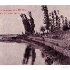Postales: LEON - DEFENSA DE MARGEN EN EL RIO ESLA DE LOS SRES CRESPO - LEON , A. BIANCHINI INGENIEROS BARCELO. Lote 128053887