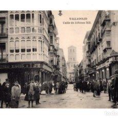 Postales: VALLADOLID.- CALLE ALFONSO XIII . FOTOTIPIA HAUSER Y MENET. ED. L.J.. Lote 128394043