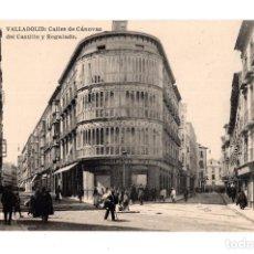 Postales: VALLADOLID.- CALLES DE CÁNOVAS DEL CASTILLO Y REGALADO. FOTOTIPIA HAUSER Y MENET. ED. L.J.. Lote 128394507