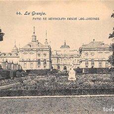 Postales: LA GRANJA.- PATIO DE HERRADURA DESDE LOS JARDINES. Lote 128604323