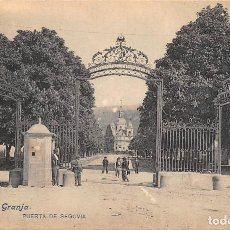 Postales: LA GRANJA.- PUERTA DE SEGOVIA. Lote 128604387