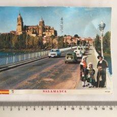 Postales: POSTAL. SALAMANCA. CATEDRAL Y PUENTE SOBRE EL TORMES. MANIPEL. H. 1970?. Lote 128604775