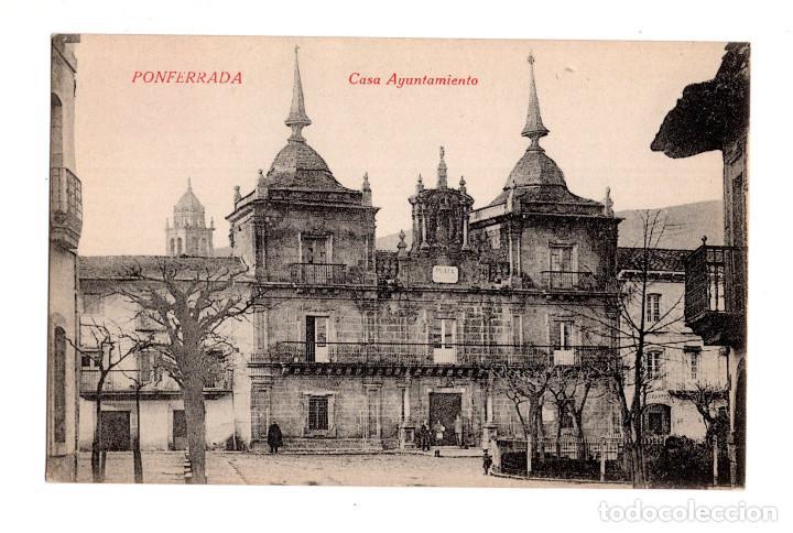 PONFERRADA (LEON).- CASA AYUNTAMIENTO (Postales - España - Castilla y León Antigua (hasta 1939))