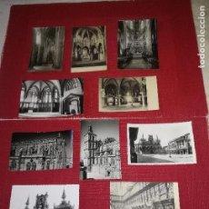 Postales: ASTORGA - LOTE 10 POSTALES - AÑOS 40 Y 50 - MUY BUEN ESTADO - ORGINALES. Lote 128733455