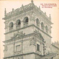 Postales: SALAMANCA, PALACIO DEL CONDE DE MONTERREY, EDITOR: THOMAS Nº 198. Lote 128896071