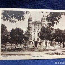 Cartoline: POSTAL ANTIGUA BURGOS HOTEL MARÍA ISABEL BERTI REVERSO PLANO SITUACIÓN. Lote 128951775