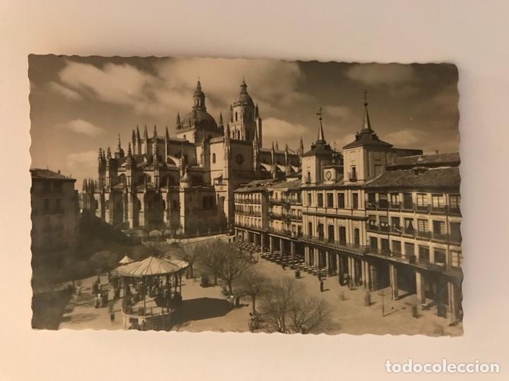 SEGOVIA. POSTAL NO.42 PLAZA DEL GENERAL FRANCO. EDITA: GARCIA GARRABELLA (H.1970?) (Postales - España - Castilla y León Moderna (desde 1940))