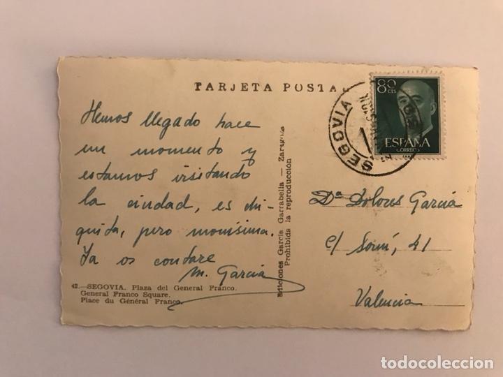 Postales: SEGOVIA. Postal No.42 Plaza del General Franco. Edita: Garcia Garrabella (h.1970?) - Foto 2 - 129467267