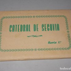 Postales: CATEDRAL DE SEGOVIA SERIE 1ª BLOC DIEZ POSTALES, HUECOGRABADO FOURNIER VITORIA, FOTO RÍOS. Lote 131228367