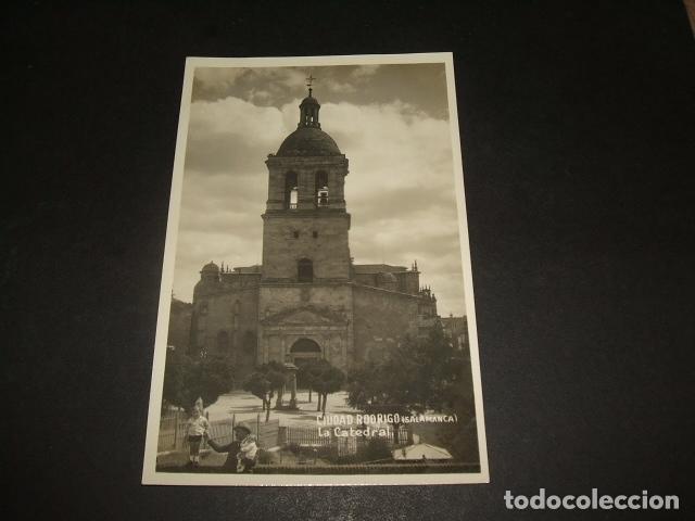 CIUDAD RODRIGO SALAMANCA LA CATEDRAL POSTAL FOTOGRAFICA AÑOS 30 (Postales - España - Castilla y León Antigua (hasta 1939))