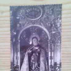 Postales: POSTAL IGLESIA DE SANTA TERESA - IMAGEN DE LA SANTA - AVILA - SIN CIRCULAR. Lote 132215374