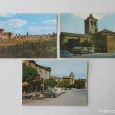 Postales: TRES POSTALES AREVALO, SEGOVIA. Lote 132272994