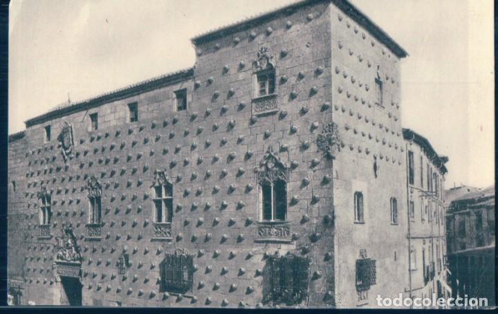 POSTAL SALAMANCA - LA CASA DE LAS CONCHAS - HUECOGRABADO VAS-O-JOSE Mª (Postales - España - Castilla y León Antigua (hasta 1939))