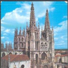 Postales: 10 - BURGOS.- FACHADA PRINCIPAL Y CRUCERO DE LA CATEDRAL. SIGLOS XIII AL XV.. Lote 133720626