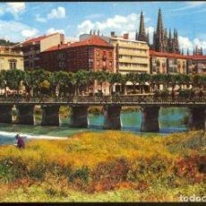 Postales: 38 - BURGOS.- RIO ARLANZON Y AVDA. DEL GENERALISIMO. Lote 133814582